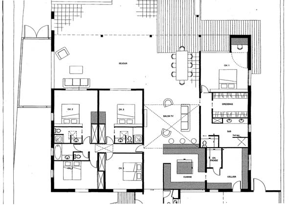 Habitatoo plan de maison luxueuse for Maison de luxe plan